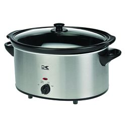 Kalorik 6 Qt Stainless Steel Oval Slow Cooker