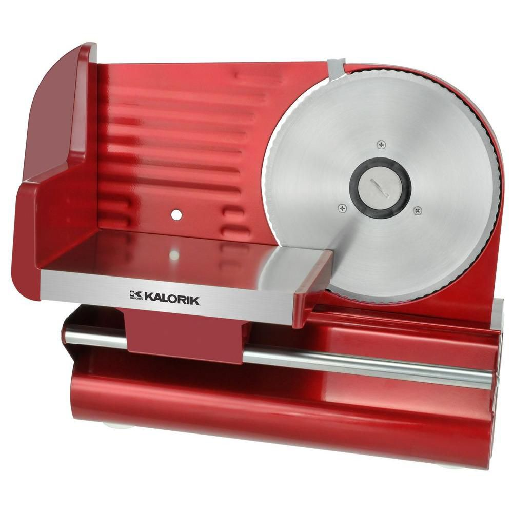 Kalorik 200W Adjustable Thickness Meat Slicer in Red
