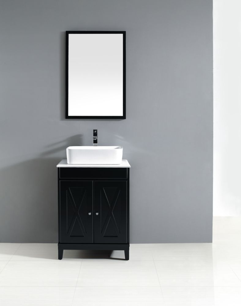 Home decorators collection kaysen 24 inch vanity the for Home decorators vanity