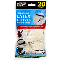 Latex Disposable Gloves 20pk