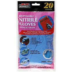 BENNETT 20PQ. gants jetables en nitrile organiques.