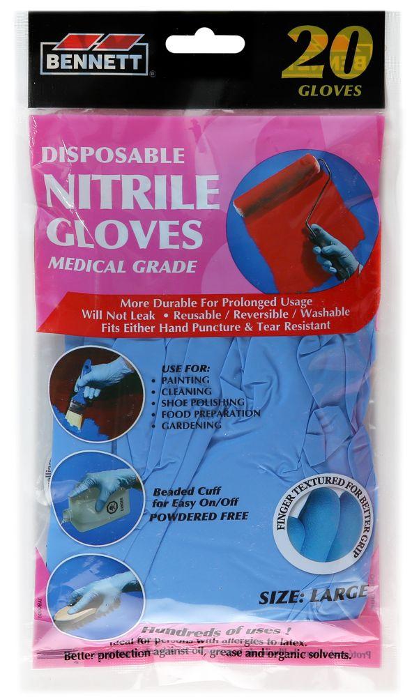 20PQ. gants jetables en nitrile organiques.