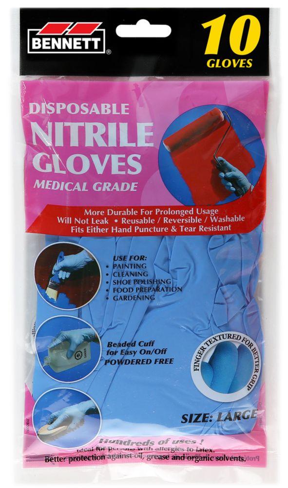 10PQ. gants jetables en nitrile organiques.