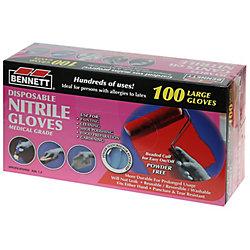 BENNETT Nitril Disposable Gloves Large 100