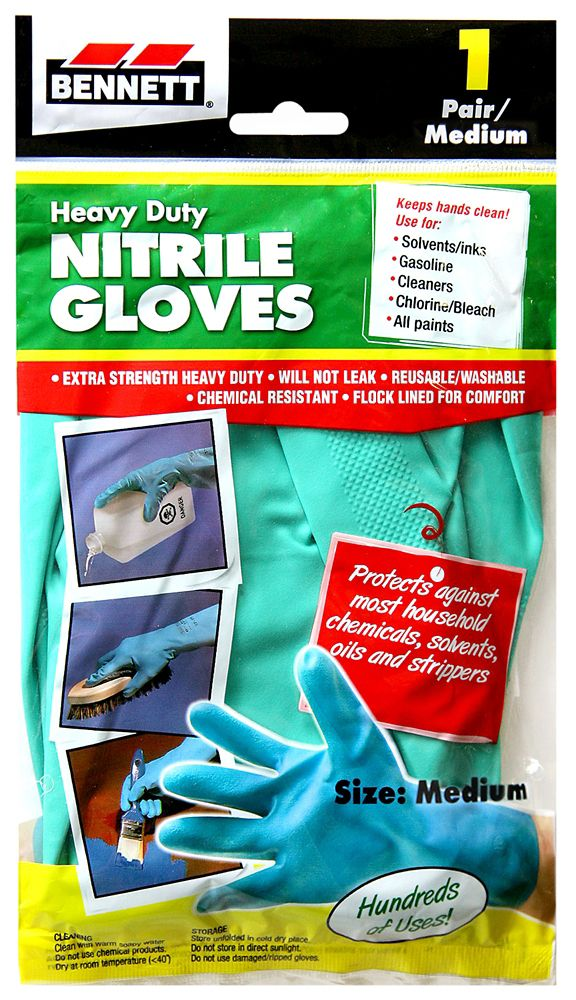 1 Pair Medium Nitrile Gloves