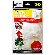 20 Disposable Vinyl Gloves
