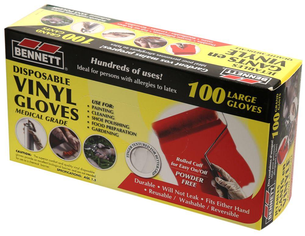 Disposable Vinyl Gloves Large 100