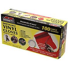 Disposable Vinyl Gloves Large 100