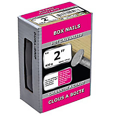 2-inch (6d) Box Framing Nail-Hot Galvanized-420g (approx. 170  pieces per package)