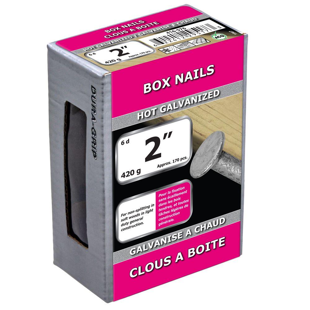 """2"""" Box Nail Hot Galv 420g"""