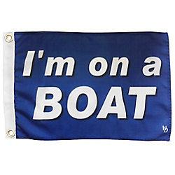 """Multinautic NAUTI """"I'm on a Boat"""" Funny Flag"""