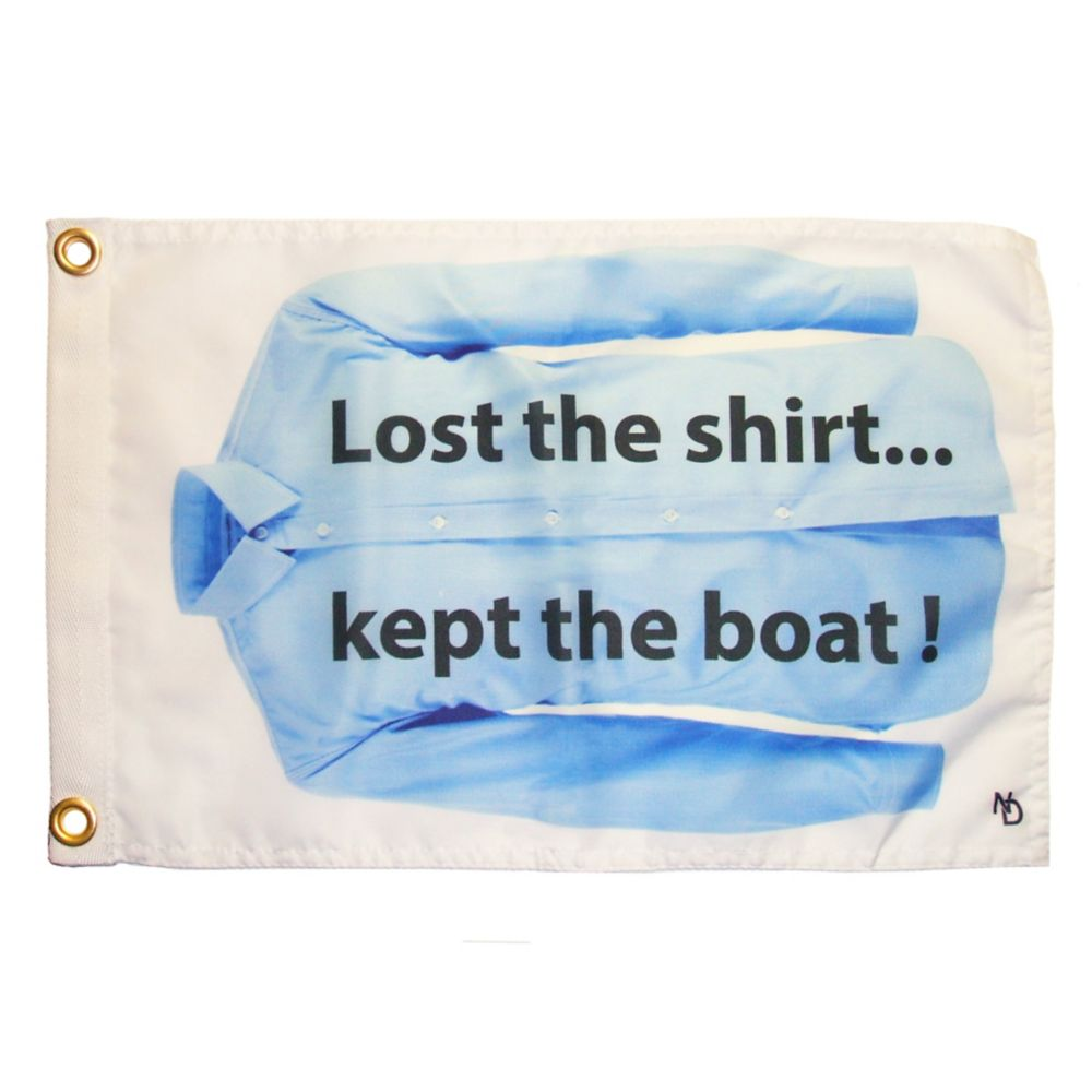 "NAUTI� drapeaux amusants ""Lost the Shirt"""