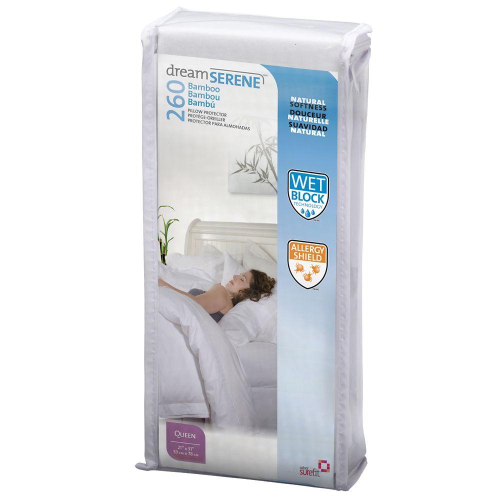 Dreamserene Bamboo 260 Pillow Protector - Queen