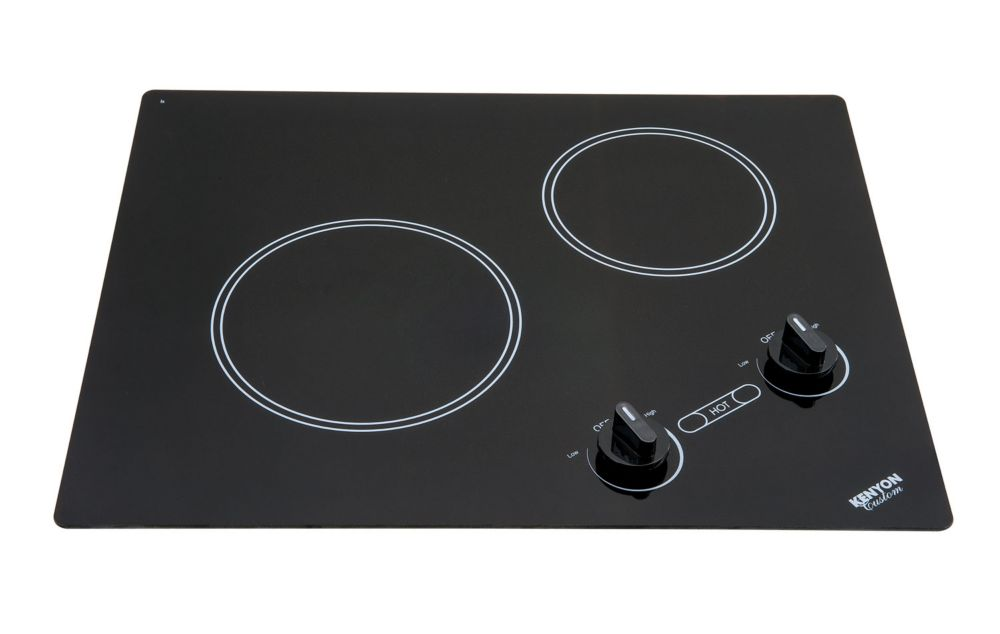 Kenyon Polar series - Artic XL round Edge - 2 burner clear black 240V