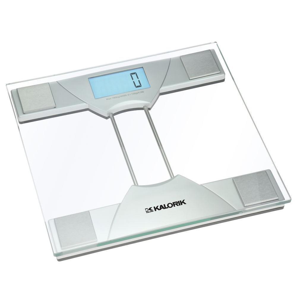 Pèse-personne Électronique design Verre Transparent