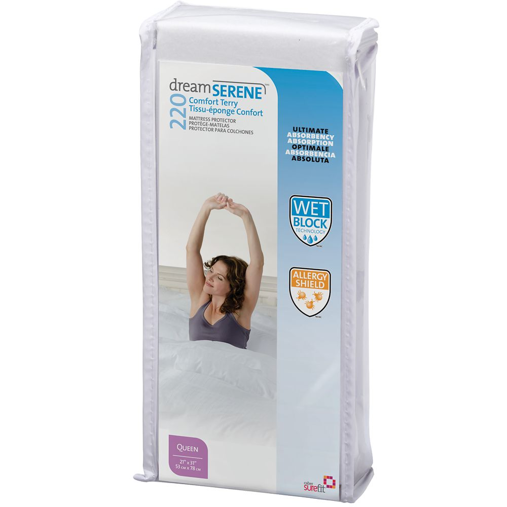 Dreamserene Comfort Terry 220 Pillow Protector - Standard