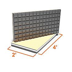 2 ft. x 4 ft. Insulated Subfloor Panel for Tile Flooring