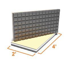 Amdry 2 ft. x 4 ft. Insulated Subfloor Panel for Tile Flooring