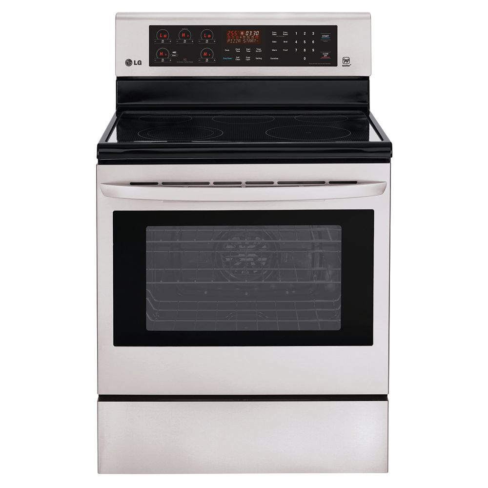 6.3 cu. ft. Electric Range with True Convection in Stainless Steel