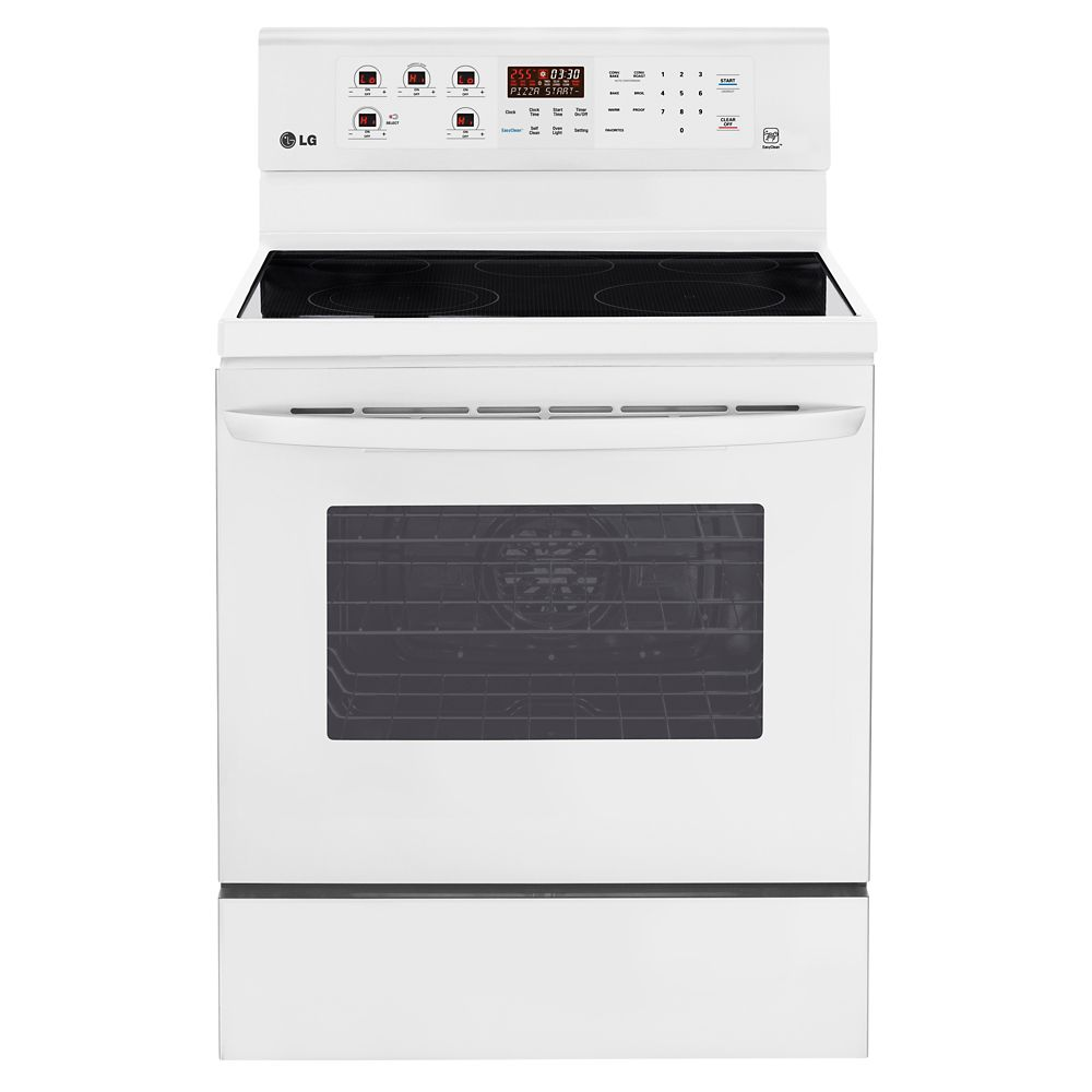 6.3 cu. ft. Electric Range with True Convection in White
