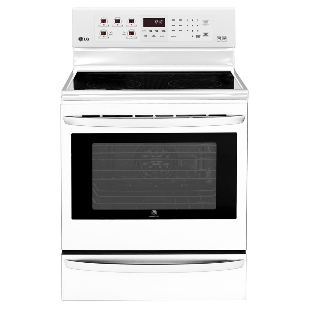 Electric Kitchen Stoves With Grills ~ Lg cu ft electric range with infrared grill and true