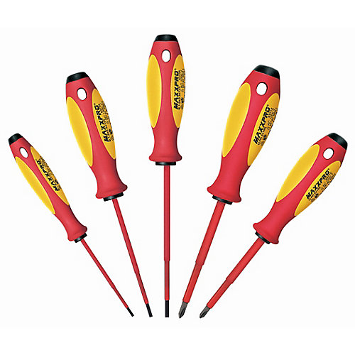 5-Piece Maxxpro Insulated Screwdriver Set