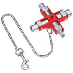 Knipex Clé universelle pour toutes les armoires et systèmes de fermeture standards