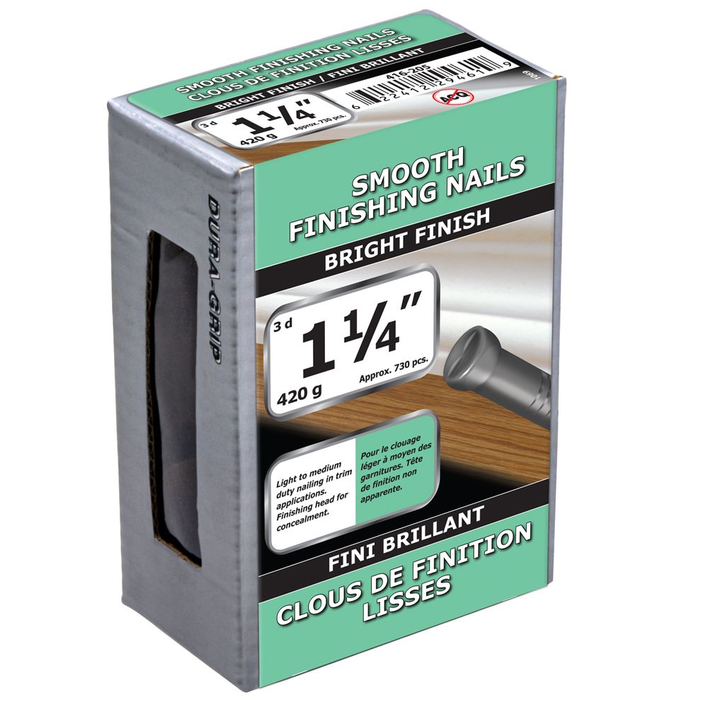 "1 1/4"" Smooth Finish Bright 420g 416-205 Canada Discount"