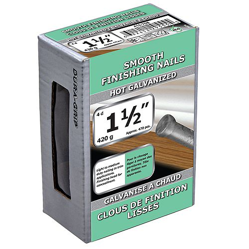 Paulin 1 1/2-inch (4d) Smooth Finish Nail-Hot Galvanized-420g (approx. 470  pieces per package)