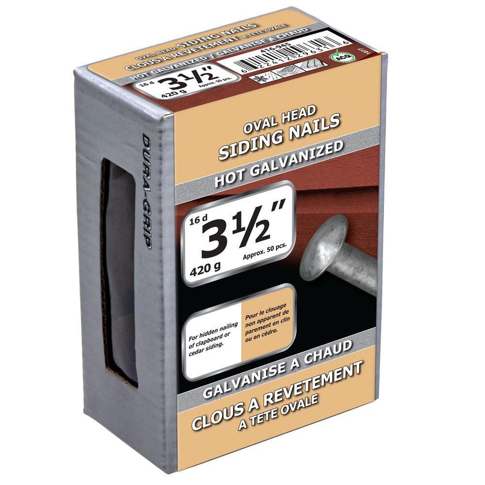 "3 1/2"" Oval Head Siding Hot Galv 420g"