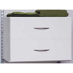 2 tiroirs organisateur - blanc