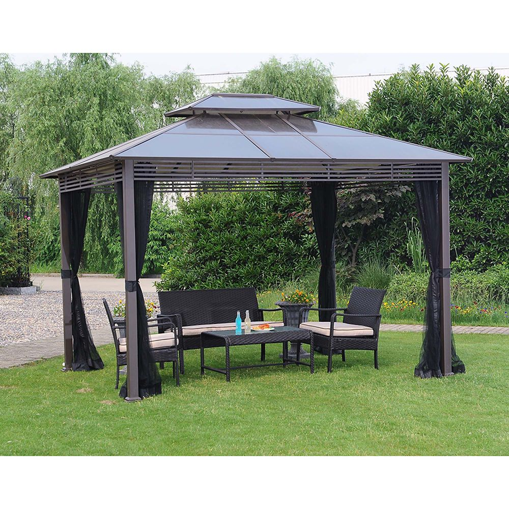 Farrington 9.8 ft. x 11.8 ft. Hard Top Gazebo