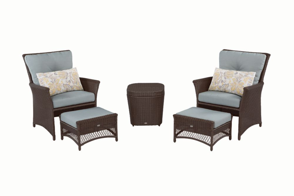 Blue Hill 5-Piece Patio Chat Set