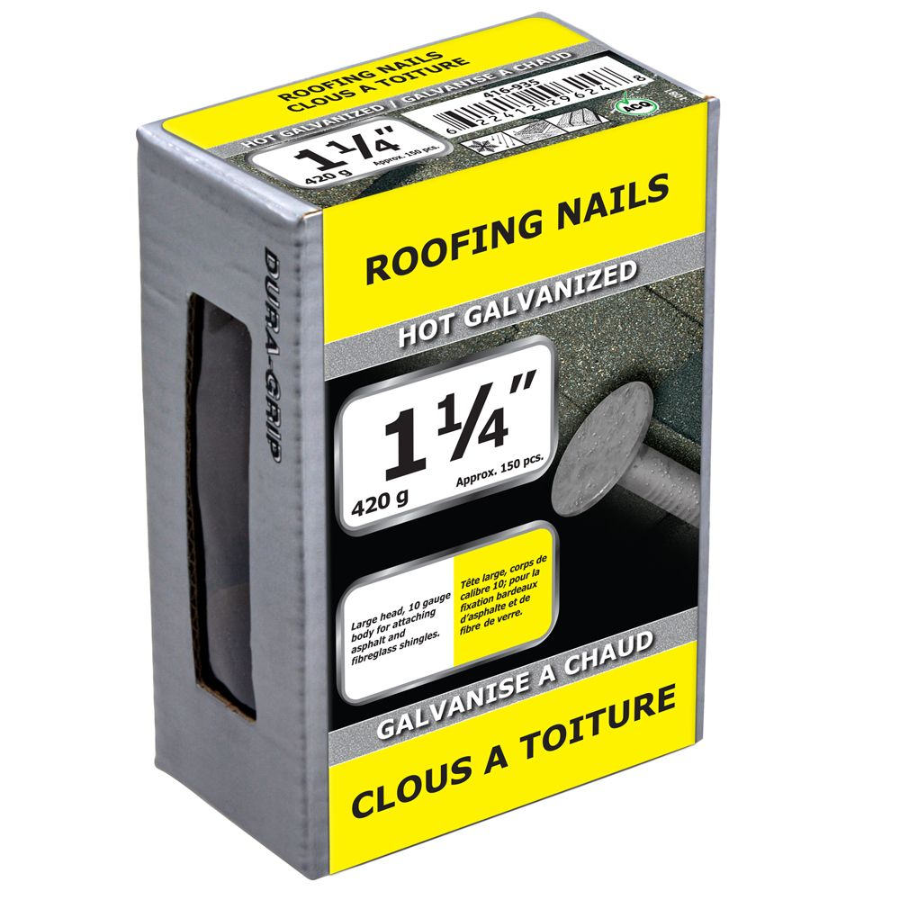 "1 1/4"" clous a toiture galvanise a chaud 420g"