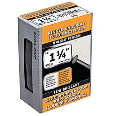 1 1/4 po (3d) d'anneau de sous-couche de plancher cloué brillant - 420 g (environ 520 pièces par paquet)