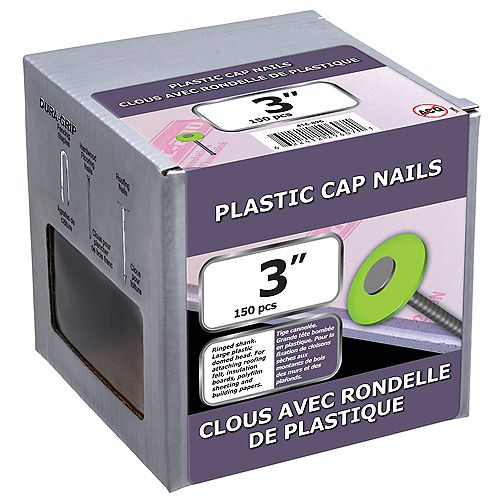 Paulin 3-inch Plastic Cap Nail-1.5kg (approx. 150  pieces per package)