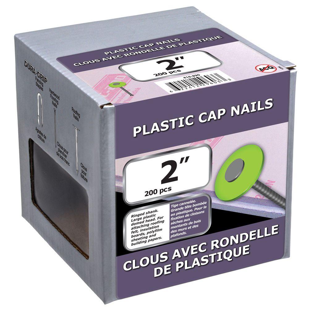 """2"""" Plastic Top Nails 200 Pcs"""