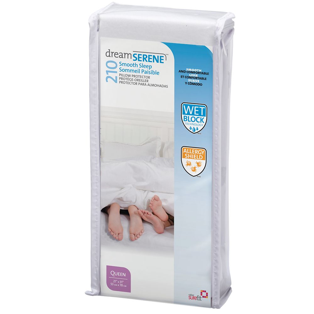 Dreamserene Smooth Sleep 210 Pillow Protector  - King