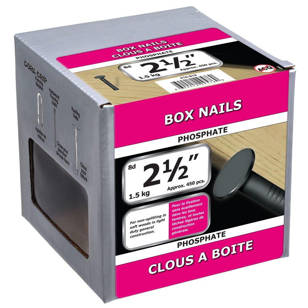 """2 1/2"""" Box Nail Phosphate 1.5kg"""