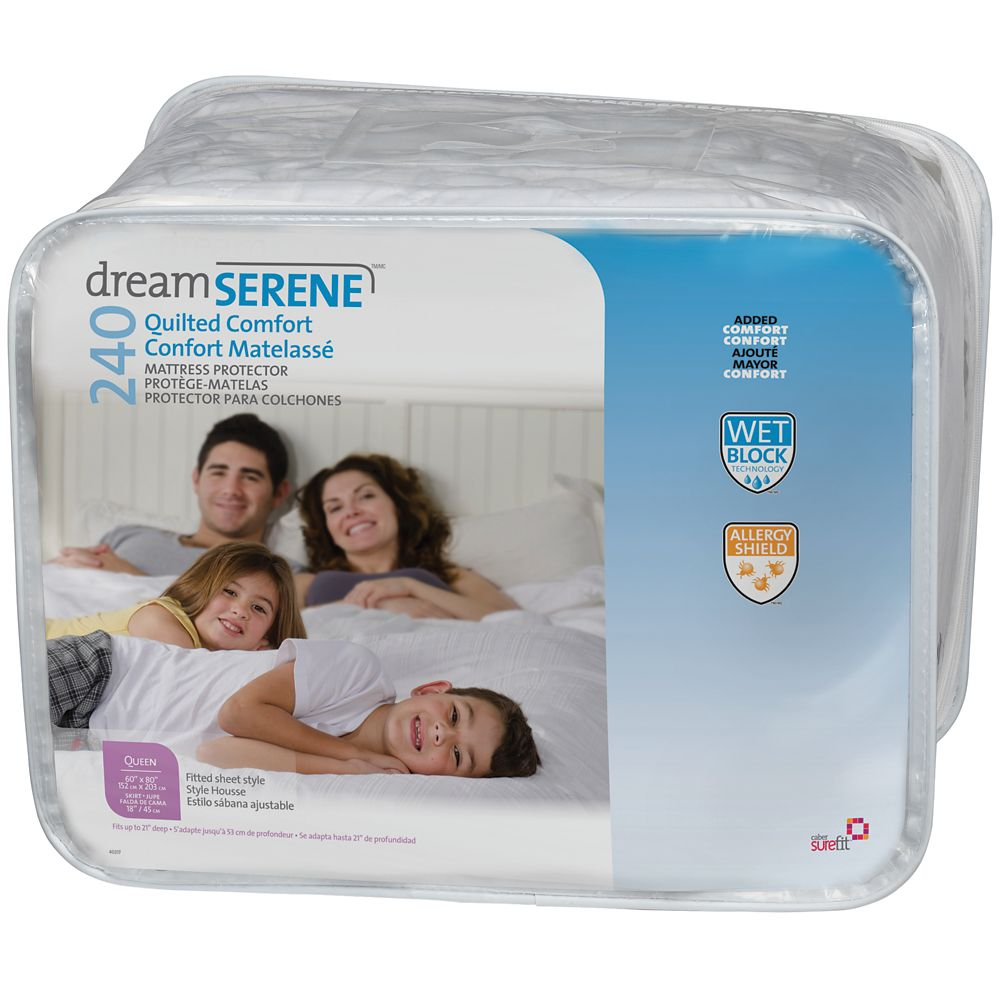 Dreamserene Quilted Comfort 240 Mattress Protector - Full