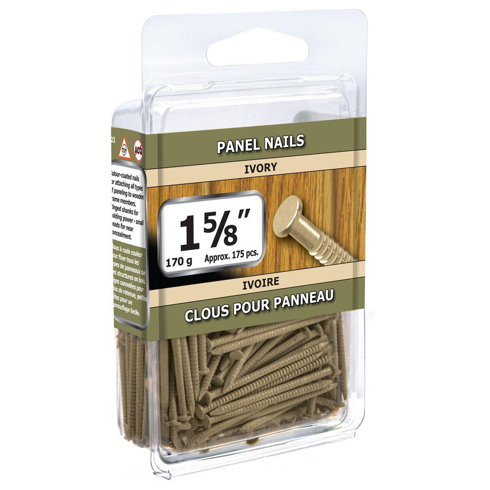 """1 5/8"""" clous pour panneau ivoire 170g"""