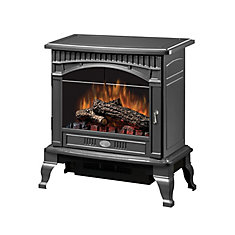 Traditional 400 sq. ft. Electric Stove in Pewter