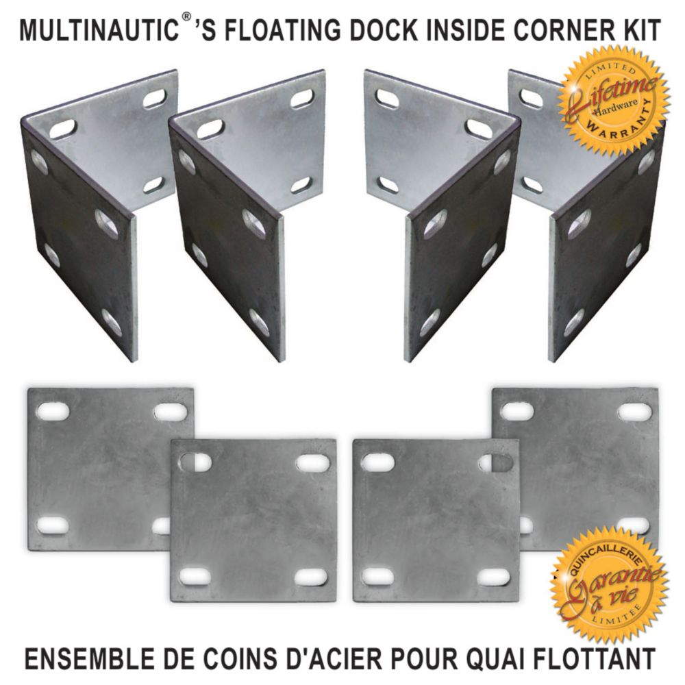 Floating Inside Heavy Duty Corner Dock Kit