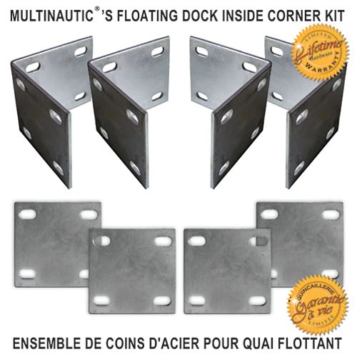 Multinautic Heavy Duty Floating Dock Inside Corner Kit