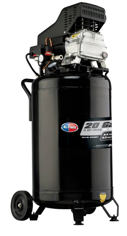 Compresseur portable All-Power America de 20 gallons