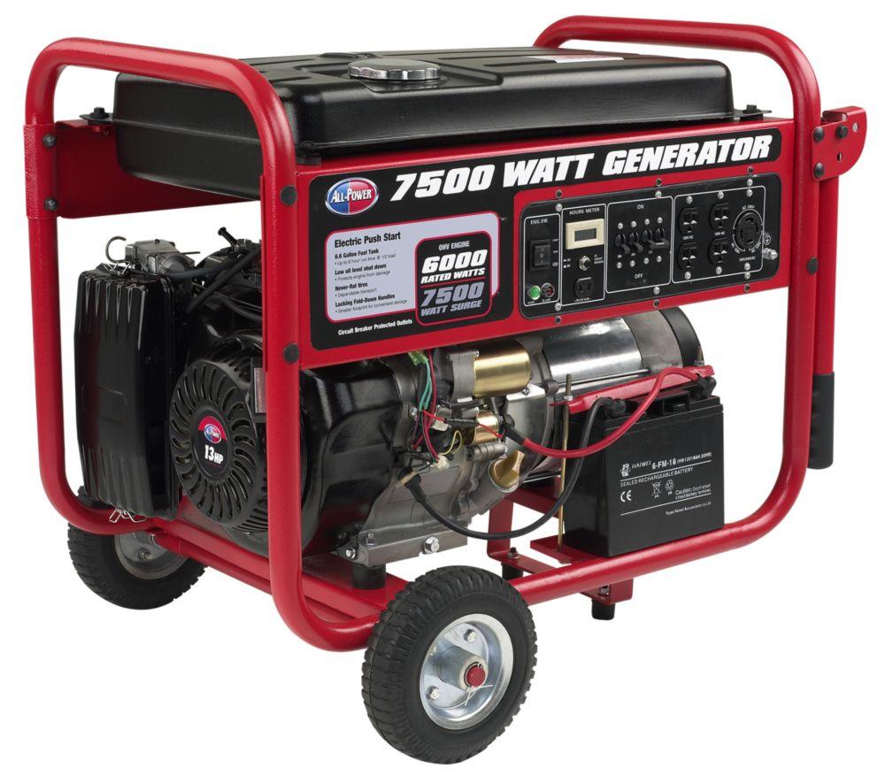 Génératrice d'une puissance de 7500 watts