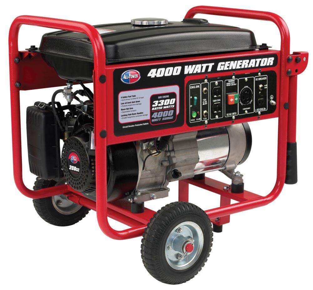 Génératrice d'une puissance de 4000 watts