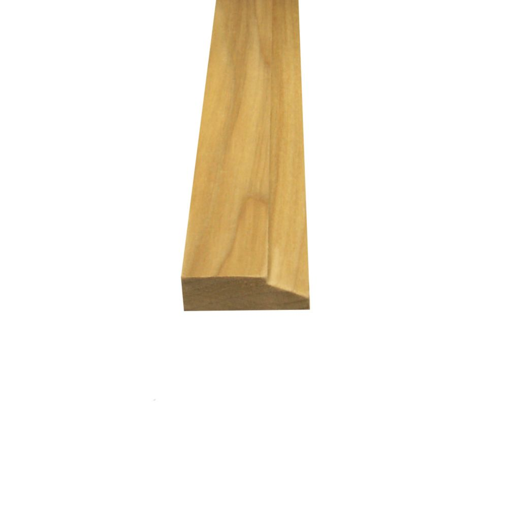 Solid Poplar Stop 1/2 Inches x 1-1/2 Inches (Price per linear foot)