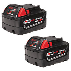 M18 18V Lithium-Ion XC Extended Capacity 3.0 Ah Battery (2-Pack)