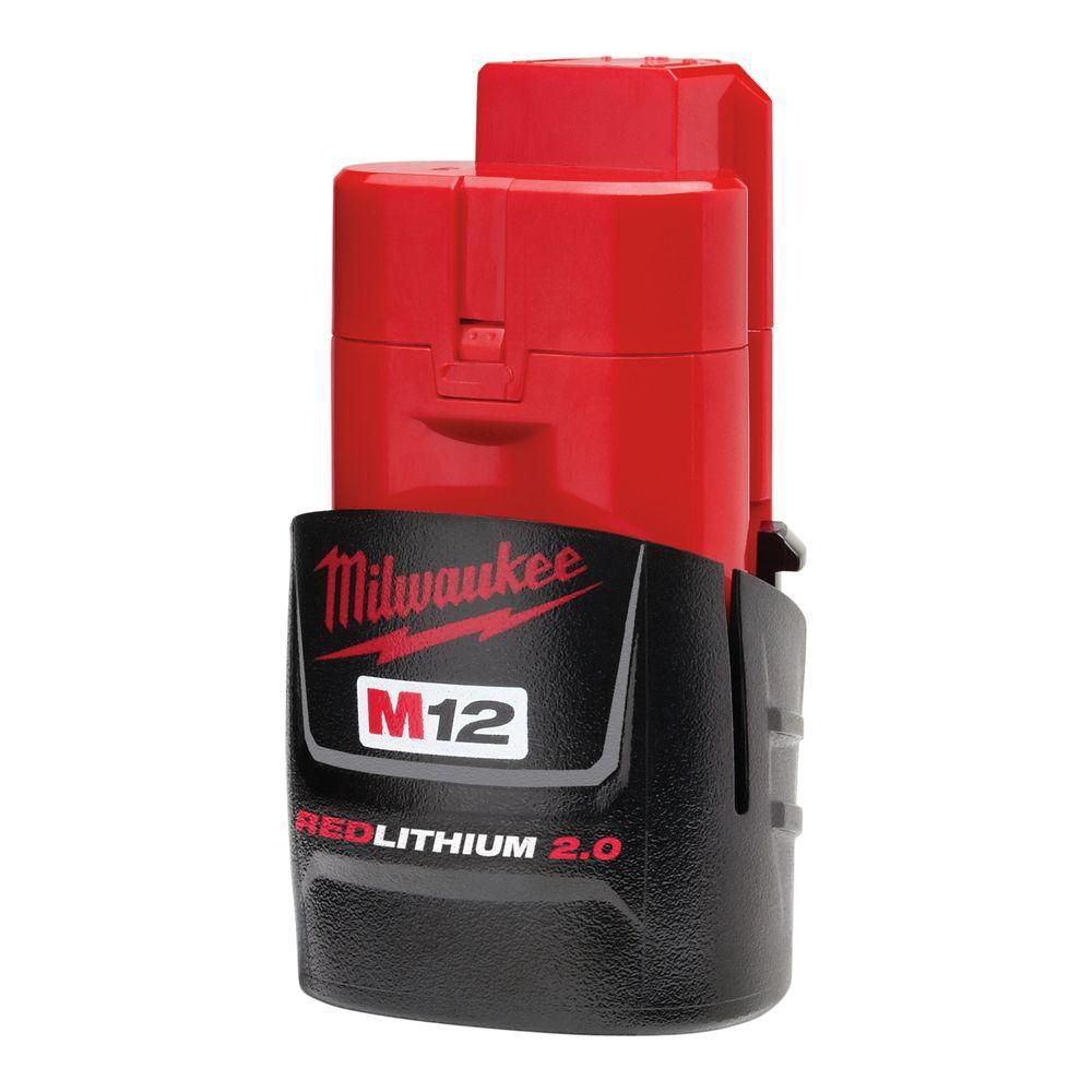 M12 12V Lithium-Ion Compact (CP) 2.0 Ah REDLITHIUM Battery Pack